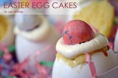 How cute are these easter egg cakes?!
