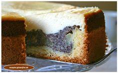 Birnen – Mohn – Käsekuchen! Zarter Mürbeteig köstlich belegt mit zwei Schichten aus Mohn und Quark! www.rezepte-glutenfrei.de