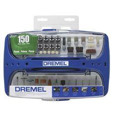 Kit para Retífica Dremel c/ 150 Acessórios para Uso Geral Referência 967-06 DREMEL é na Palácio das Ferramentas