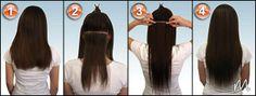 Voici une technique pour être coiffée en moins de 5 minutes et à faire seule.  Toutes nos styles sont disponibles : En extension à chaud : U tips & Flat tips En extension à froid : I tips pour micro & nano ring et en micro loops En mèches cousus : Hair weft En mèches adhésives : Skin & Tape weft En mèches clipsées : Clip In En perruques indétectables : Full lace, Silk lace, front lace En fermeture : Lace top & Silk Top closure  chez www.allextensions.fr