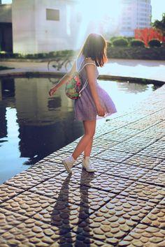 Ba lô dây rút- item cho bạn gái trẻ trung năng động
