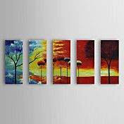 Hand Painted Oil Painting Landscpe Trees with... – USD $ 149.99
