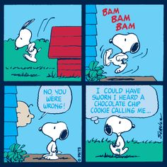 Snoopy and his cookies (maybe Charlie Brown ate it first) Snoopy Comics, Cute Comics, Snoopy Cafe, Snoopy And Woodstock, Peanuts Cartoon, Peanuts Snoopy, Peanuts Comics, Beagle, Charlie Brown Und Snoopy