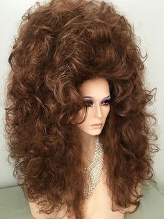 Two # made # Auburn, Light # Black, # Bright - wigs & toupee Long Curly Hair, Big Hair, Drag Wigs, Creamy Blonde, Cosplay Hair, 90s Hairstyles, Queen Hair, Hair Brained, Hair Shows