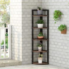 Indoor Corner Plant Stand, Corner Plant Shelf, Corner Storage Shelves, Corner Bookshelves, Small Bookshelf, Bookcase Storage, Plant Shelves, Storage Rack, Corner Shelf Design