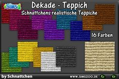 Blackys Sims 4 Zoo: Realistic carpets  by Schnattchen • Sims 4 Downloads