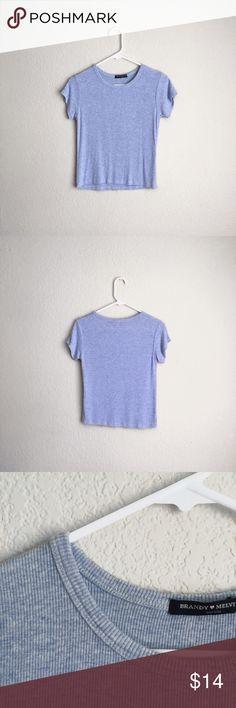 Brandy Melville Light Blue Shirt Super cute light blue shirt from Brandy Melville! Price is negotiable!💖😊 Brandy Melville Tops