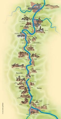 The Rhine River Castles in Germany...most unbelievable drive!