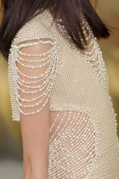 Chanel, Fall 2010, Heavenly pearl couture dress as seen on Keira Knightly