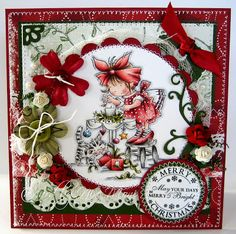 Lili of the Valley . *Make it Festive* Christmas Cards To Make, Xmas Cards, Handmade Christmas, Holiday Cards, Christmas Crafts, Christmas Colors, Christmas Ideas, Scrapbook Cards, Scrapbooking