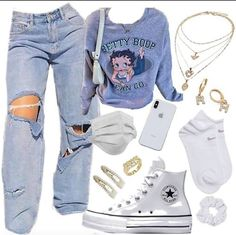 Swaggy Outfits, Baddie Outfits Casual, Swag Outfits For Girls, Cute Swag Outfits, Cute Comfy Outfits, Teenager Outfits, Teen Fashion Outfits, Retro Outfits, Look Fashion