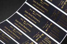 ADD DEPTH, POLISHED DETAIL, LUSTROUS ELEGANCE WITH TINSEL ACCENTS: Get the visual premium of true gradients, inks that don't run & vibrant colors. Print foil stamped labels that ship free. Great discounts & personalized service. 1-color, 2-color, custom full color available.  → FREE CONSULTATION at service@inkablelabel.com. Inkable Label Co's Service, Prepress, Design & Production teams are always happy to serve you! → GET INSTANT QUOTES at www.inkablelabel.com Stamp Printing, Printing Labels, Blind Embossing, This Is Us Quotes, Stationery Paper, Foil Stamping, Print Packaging, Free Prints, Papers Co