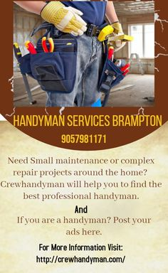 Handyman Service, Home Repair, Ads, Projects, Log Projects, Blue Prints, Home Improvement, Home Improvements, House Remodeling