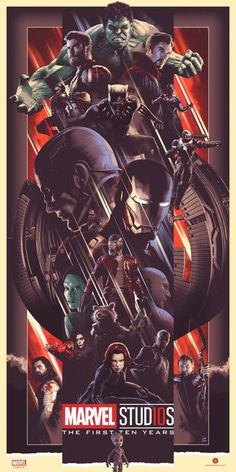 Marvel Studios First Ten Years Posters: MCU's Heroes & Villains