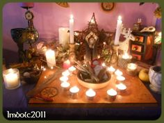 An interesting idea for a Imbolc Altar!  By Skayler.deviantart.com on @deviantART