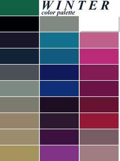 color me beautiful deep winter palette Color Me Beautiful, Color Trends, Color Combos, Color Combinations Outfits, Deep Winter Colors, Winter Colour Palette, Deep Winter Palette, Deep Autumn, Warm Autumn