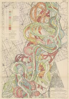 THE ALLUVIAL VALLEY OF THE LOWER MISSISSIPPI RIVER Harold Fisk, 1944 via Radical Cartography / http://www.radicalcartography.net/?fisk