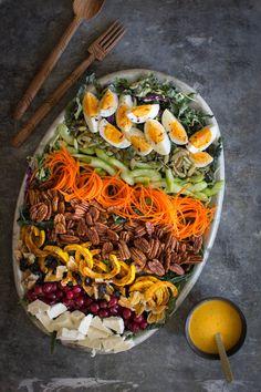 Autumn Cobb Salad with Turmeric Poppy Seed Dressing   Be warned, this salad is addictive!   @beardandbonnet
