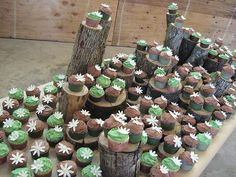 green and brown rustic wedding cupcakes by ArtisanCakeCompany, via Flickr