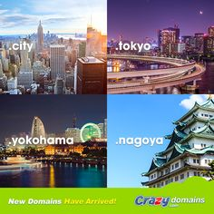 From #Tokyo to #Yokohama to #Nagoya — if you love your #city there's a new domain for you http://www.crazydomains.com/domain-names/new-domain-names/?fbpromojp  #webdomains #Japan #日本 #ジャパン #東京 #横浜 #名古屋