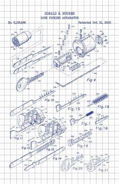 Original blueprint diagram of a 1965 426 hemi head maquinas lock picking apparatus donald r hughes 2000 malvernweather Images