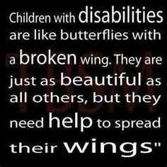 quotes with pictures about children with disabilites - Yahoo Search Results
