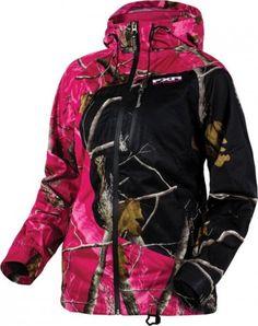 FXR Racing Edge Lite Trilaminate Realtree Womens Zip Up Sports Jackets