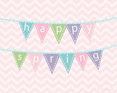 The Latest Find's Make It Create - DIY, Tutorials, Recipes, Digital Freebies: Happy Spring {Free Printables} Spring Banner, Spring Sign, Happy Spring, Hello Spring, Free Printable Banner, Free Printables, Project Life Scrapbook, Easter Banner, Holiday Banner