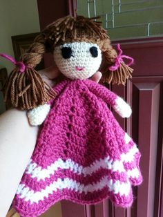 Lovey for a little girl.  Pattern by bowtykes adapted slightly