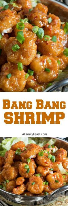 Cool Bang Bang Shrimp – A copycat version of the super popular appetizer originally served at the Bone Fish Grill chain of restaurants. The post Bang Bang Shrimp – A copycat version of the super popular appetizer originally s… appeared first on Trupsy . Popular Appetizers, Seafood Appetizers, Seafood Dinner, Appetizer Recipes, Dinner Recipes, Seafood Menu, Seafood Party, Party Recipes, Fish Recipes
