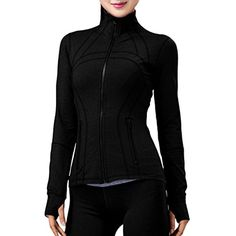 Women Running Yoga Slim UV Protect Sweatshirts with Two Side Pocket Jacket Coat -- You can get additional details at the image link. (This is an affiliate link) #TrackJackets