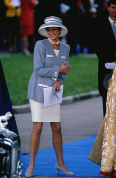 Princess Diana in Blue Suit, 1993Photo Gallery of Princess Diana's Style