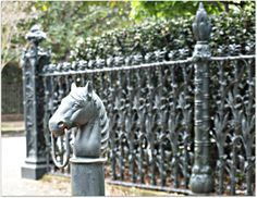 NOLA wrought iron  ...have the horse part just need the wrought iron fence