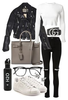 """""""Untitled #22201"""" by florencia95 ❤ liked on Polyvore featuring Burberry, Yves Saint Laurent, Rosetta Getty, Gucci, adidas and Lonna & Lilly"""
