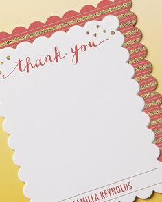 Say 'Thank You' with personalized notes from Tiny Prints.
