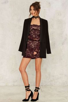 Barely There Lace Dress - Clothes | Cocktail Dresses