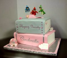 Pretty cake, perfect for out fairy tale themed baby shower.