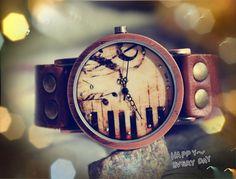 piano patter wrist watch,men wrist watch,lady wrist watch, vintage wrist watch, leather   watch,men wrist watch,unique wrist watch,handmade on Etsy, $19.99