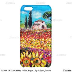 FLORA IN TUSCANY/ Fields ,Poppies and Sunflowers iPhone 5C Case