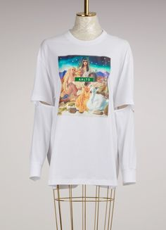 AALTODouble-Sleeve Top with Print