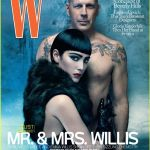 Cool photoshoot of Bruce and Emma Willis for W magazine.