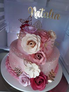 Best Birthday Cake Designs, 18th Birthday Cake For Girls, 50th Birthday Cake Toppers, 15th Birthday Cakes, Elegant Birthday Cakes, Birthday Sheet Cakes, Pretty Birthday Cakes, Birthday Cake Decorating, Beautiful Cake Designs