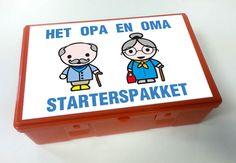 Opa en Oma starterspakket, als grapje voor een collega. Stickers te bestellen via info@moniekontwerpt.nl
