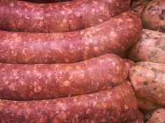 Irish Sausage Recipe:: 2 lbs of ground pork-- 1 egg-- 1 cup of bread crumbs-- ¾ cup of cold water-- 1 and ¼ tsps of salt-- 1 and ½ tsps of dried thyme-- 1 tsp dried marjoram-- 1 tsp freshly cracked black pepper-- ½ tsp or dried rosemary-- 4 cloves of garlic, flattened and finely-- minced