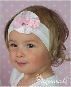 (EM-26) Stirnband für kleine Damen! - Princessmoda - Alles für Taufe Kommunion und festliche Anlässe