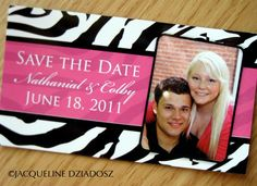 Jacqueline Dziadosz, Invitations & Design: Colby & Nathanial's Save-the-Date Magnets