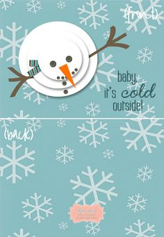 Custom Printed Christmas Card - Personalized Greeting Cards - Choose your colors - (Set of 5)