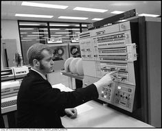 IBM System/360 Console. Console is cool But the porkchop sideburns are Awesome!