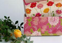 Cajas de madera decoradas con decoupage. Wooden box decoupage. www.elpiojito.es