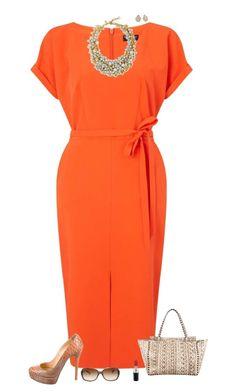 Orange delight by julietajj on Polyvore featuring polyvore fashion style Miss Selfridge Christian Louboutin Valentino J.Crew Kendra Scott Coach MAC Cosmetics clothing